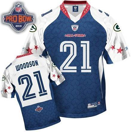 Green Bay Packers #21 Charles Woodson 2010 Pro Bowl NFC