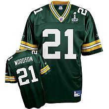 Green Bay Packers #21 Charles Woodson 2011 Super Bowl XLV Team Color Jersey green