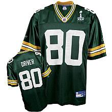 Green Bay Packers #80 Donald Driver 2011 Super Bowl XLV Team Color Jersey green