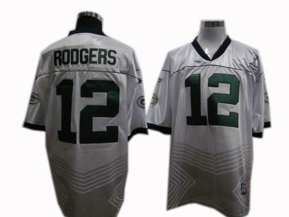 Green Bay Packers 12# Aaron Rodgers 2011 champions fashion super bowl XLV jersey white