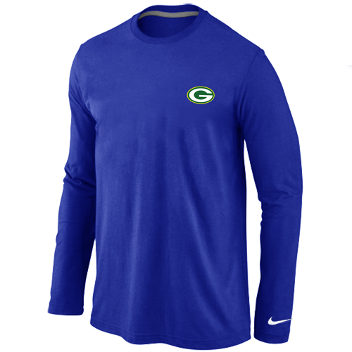 Green Bay Packers Sideline Legend Authentic Logo Long Sleeve T-Shirt  Blue