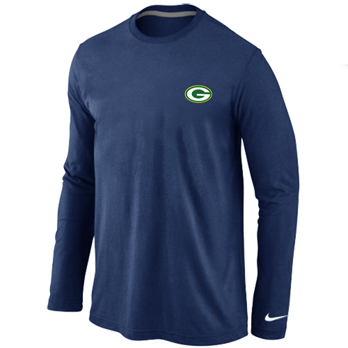 Green Bay Packers Sideline Legend Authentic Logo Long Sleeve T-Shirt D.Blue