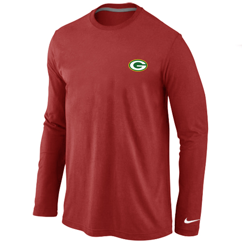 Green Bay Packers Sideline Legend Authentic Logo Long Sleeve T-Shirt RED