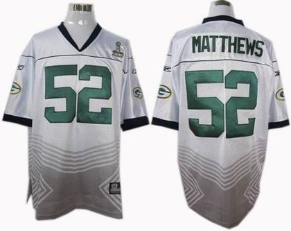 Green bay packers #52 Clav matthews champions fashion super bowl XLV jersey white