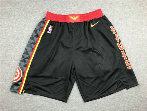 Hawks Black Nike Swingman Shorts