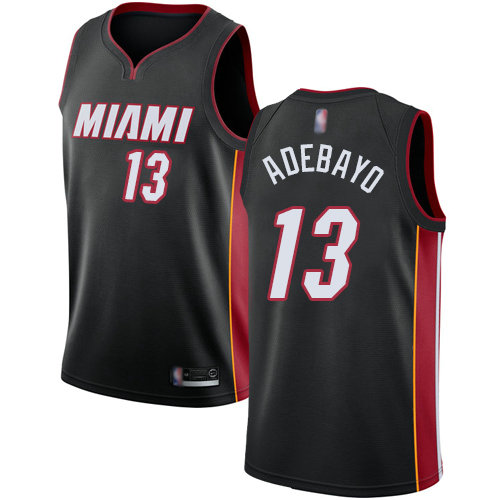 Heat #13 Bam Adebayo Black Basketball Swingman Icon Edition Jersey