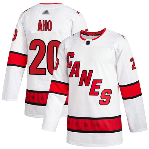 Hurricanes #20 Sebastian Aho White Road Authentic Stitched Youth Hockey Jersey