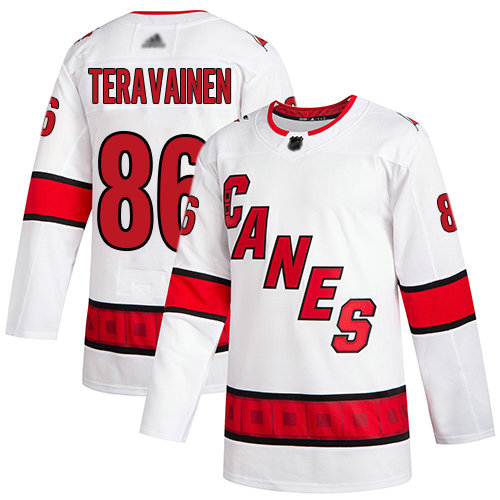 Hurricanes #86 Teuvo Teravainen White Road Authentic Stitched Youth Hockey Jersey