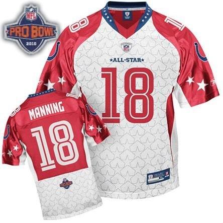 Indianapolis Colts #18 Peyton Manning 2010 Pro Bowl AFC