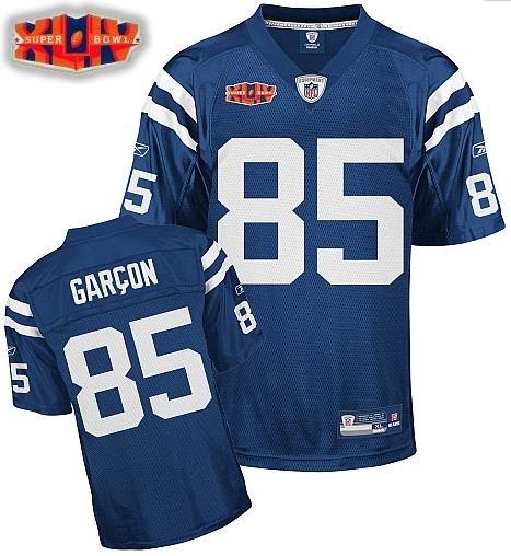 Indianapolis Colts #85 Pierre Garcon Super Bowl XLIV Jersey Team Color blue