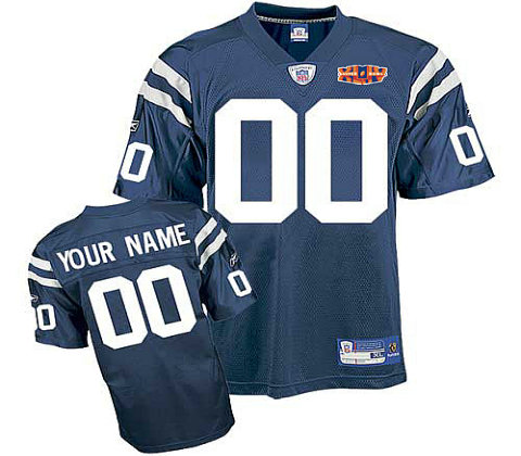 Indianapolis Colts Super Bowl XLIV Customized Team Color Jerseys
