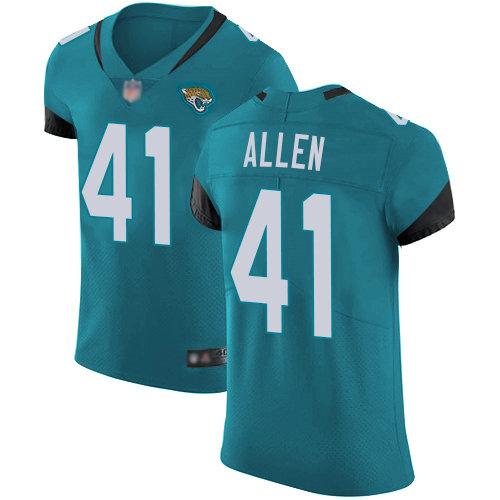 Jaguars #41 Josh Allen Teal Green Alternate Men's Stitched Football Vapor Untouchable Elite Jersey