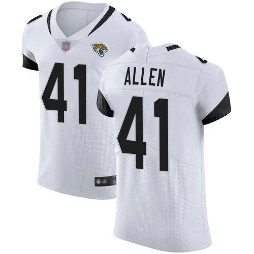 Jaguars #41 Josh Allen White Men's Stitched Football Vapor Untouchable Elite Jersey