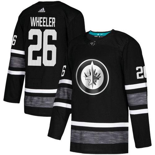 Jets #26 Blake Wheeler Black Authentic 2019 All-Star Stitched Hockey Jersey