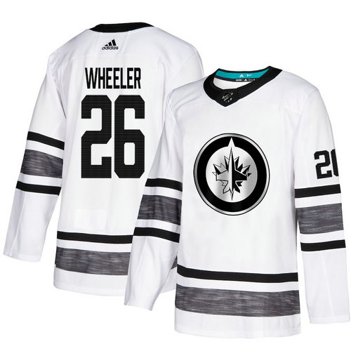 Jets #26 Blake Wheeler White Authentic 2019 All-Star Stitched Hockey Jersey