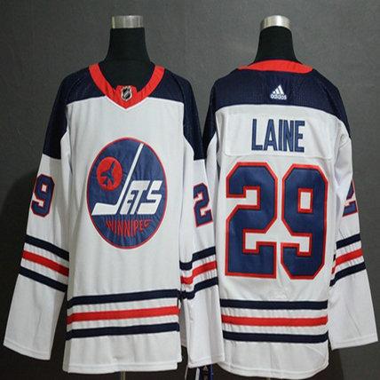 Jets #29 Patrik Laine White Authentic Heritage Stitched Hockey Jersey