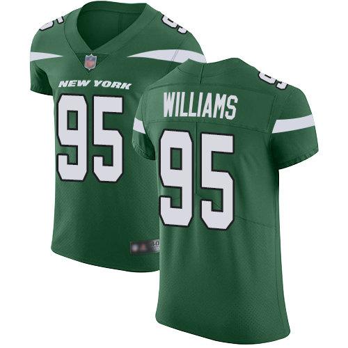 Jets #95 Quinnen Williams Green Team Color Men's Stitched Football Vapor Untouchable Elite Jersey