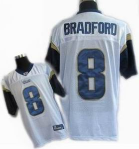 KIDS St. Louis Rams #8 Sam Bradford Color white Jerseys
