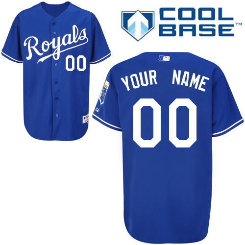 Kansas City Royals Personalized custom Blue Cool Base Jersey