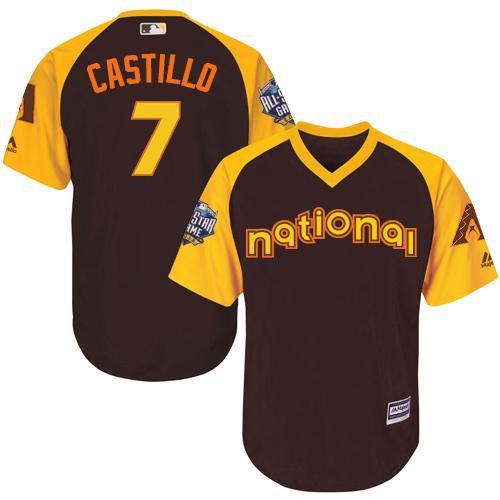 Kid Arizona Diamondbacks 7 Welington Castillo Brown 2016 All-Star National League Baseball Jersey