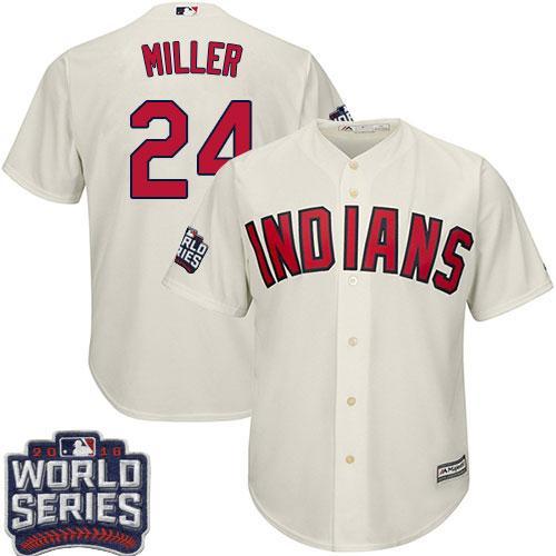 Kid Cleveland Indians 24 Andrew Miller Cream Alternate 2016 World Series Bound MLB Jersey