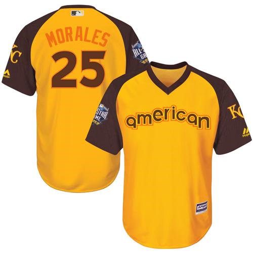 Kid Kansas City Royals 25 Kendrys Morales Gold 2016 All-Star American League Baseball Jersey