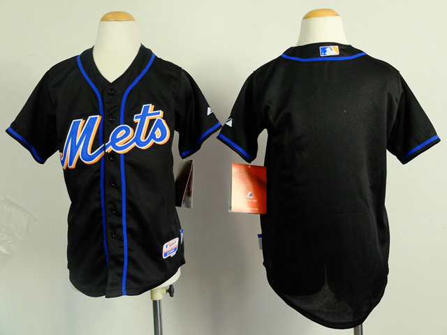 Kid New York Mets Black Baseball Jersey