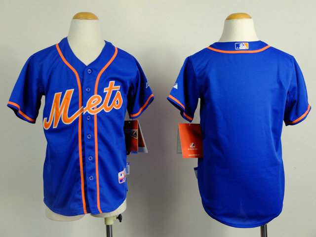 Kid New York Mets Blue Home Baseball Jersey