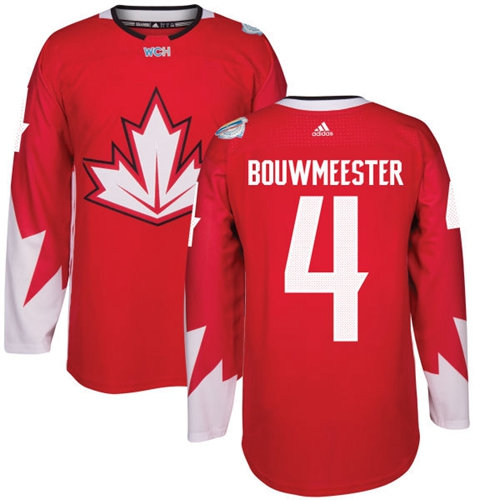 Kid Team Canada 4 Jay Bouwmeester Red 2016 World Cup NHL Jersey