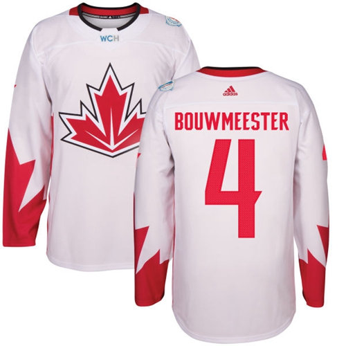 Kid Team Canada 4 Jay Bouwmeester White 2016 World Cup NHL Jersey