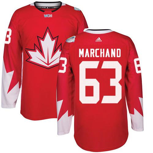Kid Team Canada 63 Brad Marchand Red 2016 World Cup NHL Jersey