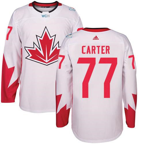 Kid Team Canada 77 Jeff Carter White 2016 World Cup NHL Jersey