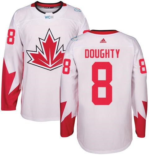 Kid Team Canada 8 Drew Doughty White 2016 World Cup NHL Jersey