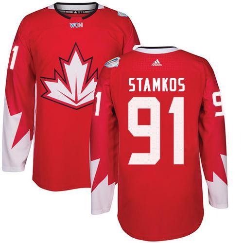Kid Team Canada 91 Steven Stamkos Red 2016 World Cup NHL Jersey