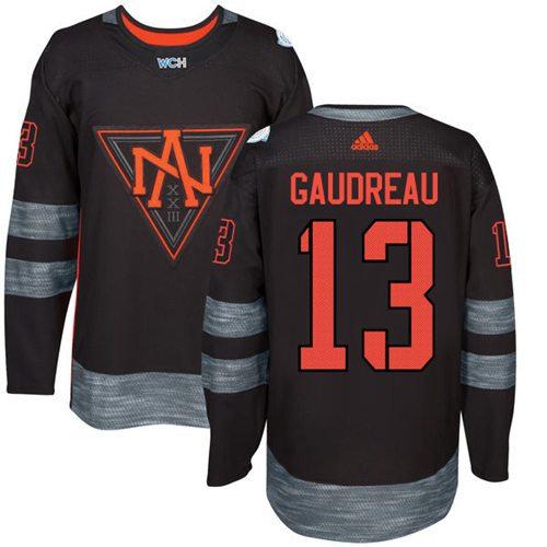 Kid Team North America 13 Johnny Gaudreau Black 2016 World Cup NHL Jersey