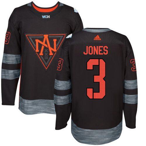 Kid Team North America 3 Seth Jones Black 2016 World Cup NHL Jersey