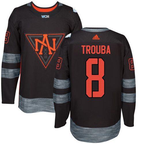 Kid Team North America 8 Jacob Trouba Black 2016 World Cup NHL Jersey