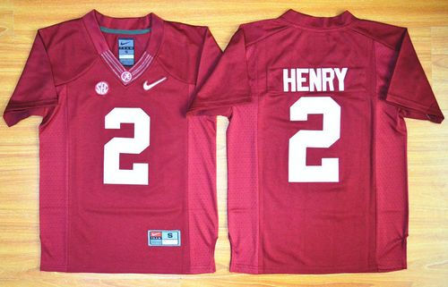 Kids Alabama Crimson Tide 2 Derrick Henry Red 2016 National Championship NCAA Jersey