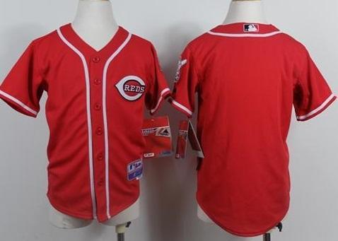 Kids Cincinnati Reds Blank Red MLB Jerseys