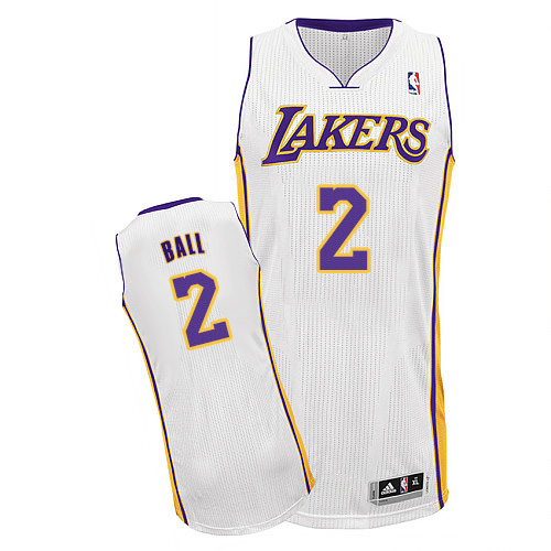 Lakers #2 Lonzo Ball White Jersey