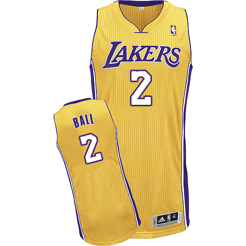 Lakers #2 Lonzo Ball Yellow Jersey