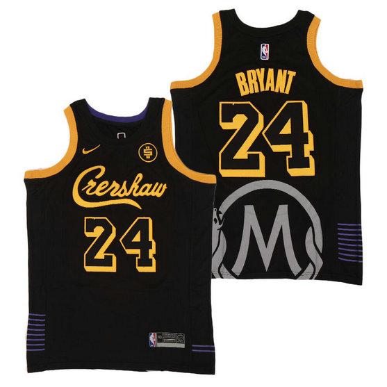 Lakers #24 Bryant Crenshaw Black Jersey