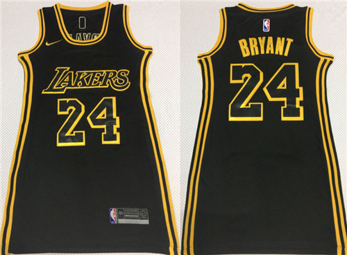 Lakers 24 Kobe Bryant Black Women Nike Swingman Jersey