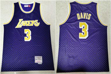 Lakers 3 Anthony Davis Purple Hardwood Classics Swingman Jersey
