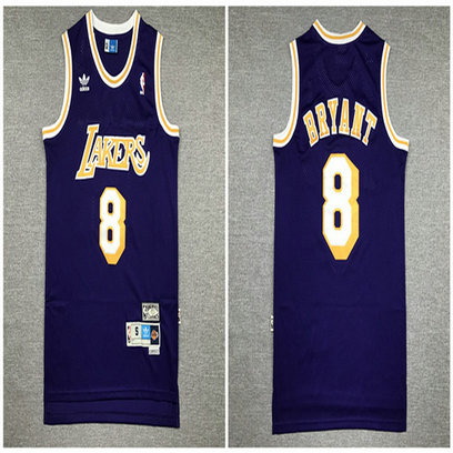 Lakers 8 Kobe Bryant Purple Hardwood Classics Jersey