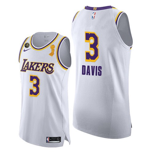 Lakers Anthony Davis 2020 Finals Champions White Jersey