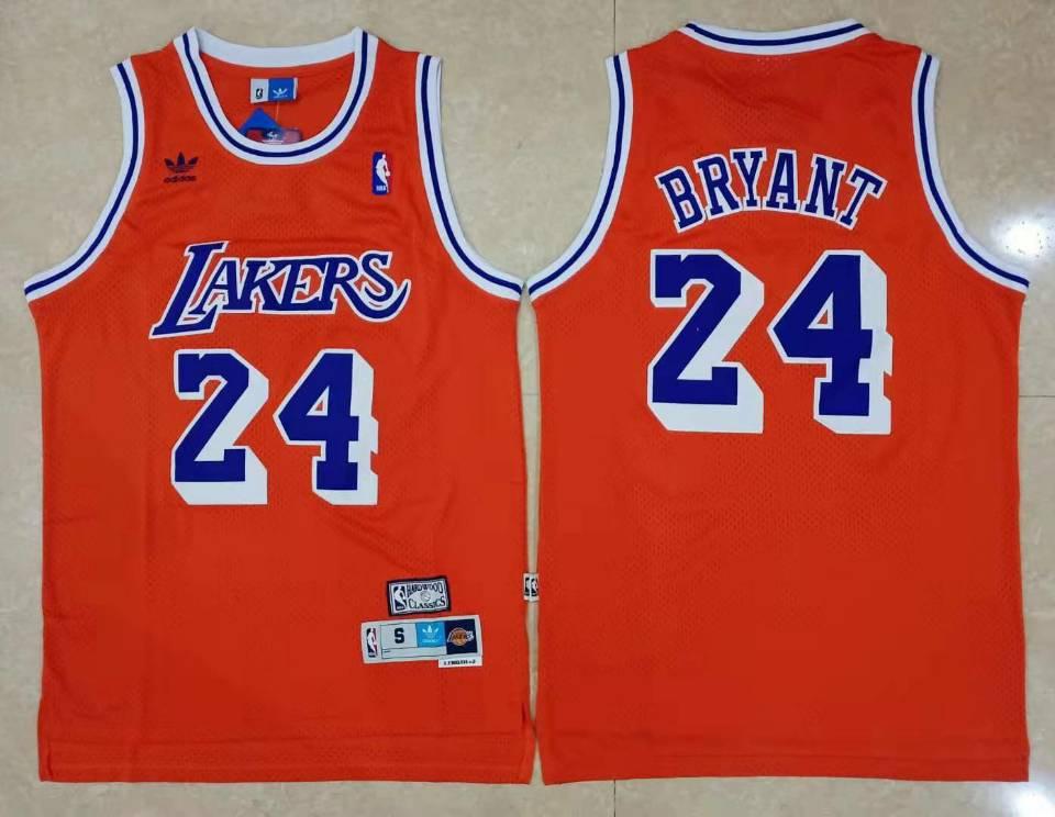Lakers Bape 24 Kobe Bryant Red Hardwood Classics Jersey