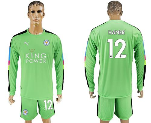 Leicester City #12 Hamer Green Goalkeeper Long Sleeves Soccer Club Jersey