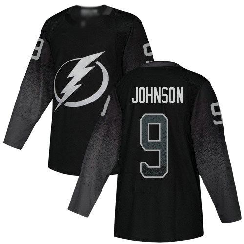 Lightning #9 Tyler Johnson Black Alternate Authentic Stitched Youth Hockey Jersey