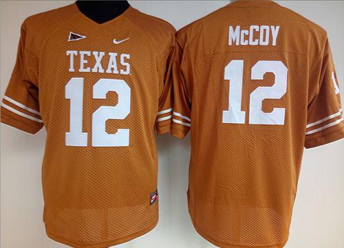 Longhorns #12 Colt McCoy Orange Women's Stitched NCAA Jersey